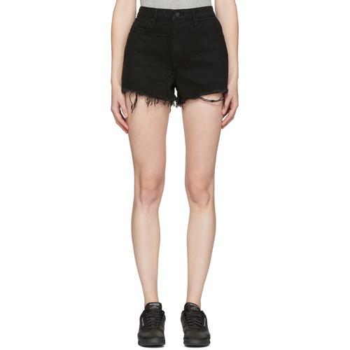 Black Denim Bite Shorts