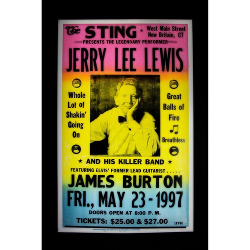 Jerry Lee Lewis retro concert poster