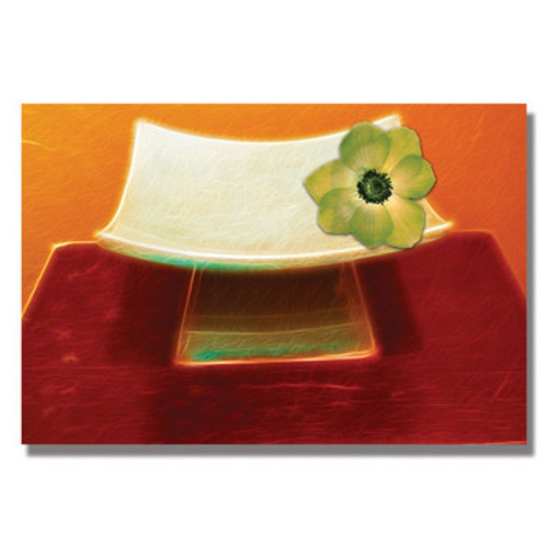 'Chartreuse Orchid' by Kathie McCurdy Framed Graphic Art on Wrapped Canvas