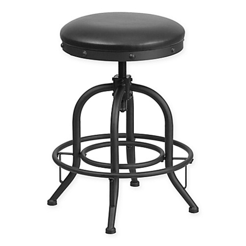 Flash Furniture 24-Inch Bar Stool with Swivel Lift in Black