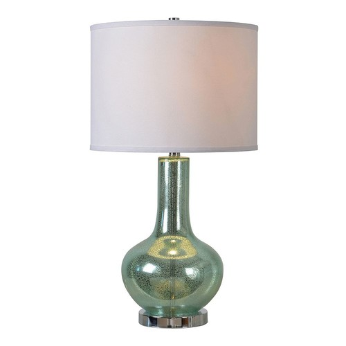 Kenroy Home Silver Sea 28 in. Teal Table Lamp