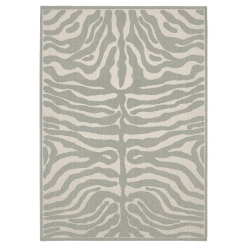 Garland Rug Safari Silver/Ivory 5 ft. x 7 ft. Area Rug