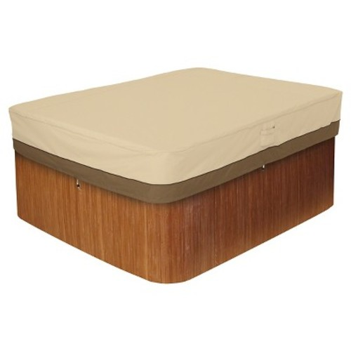 Classic Accessories Veranda Rectangular Spa and Hot Tub Storage Cover, Pebble