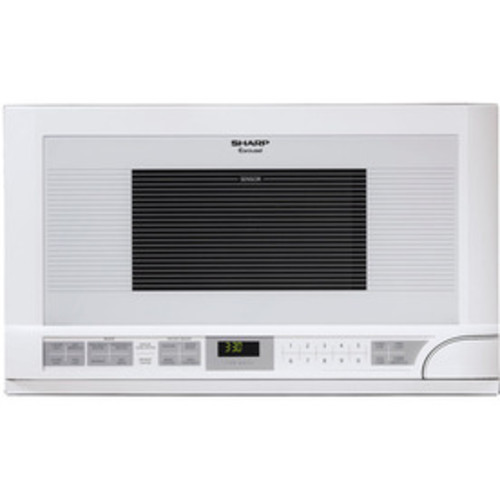 Sharp Carousel 1.5-cu ft Built-In Microwave with Sensor Cooking Controls (White)