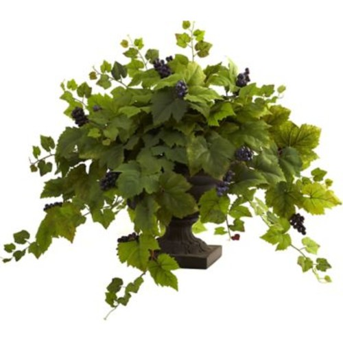Nearly Natural Grape Leaf Floor Plant in Urn