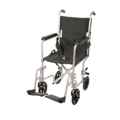 Drive Medical Lightweight Transport Wheelchair, Silver, 17
