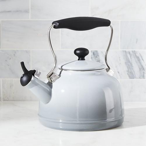Chantal  Vintage Grey Steel Enamel Tea Kettle