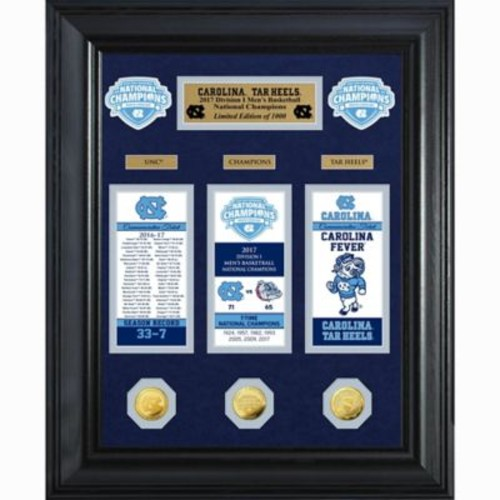 University of North Carolina 2017 NCAA Champions Deluxe Gold Coin & Ticket Collection