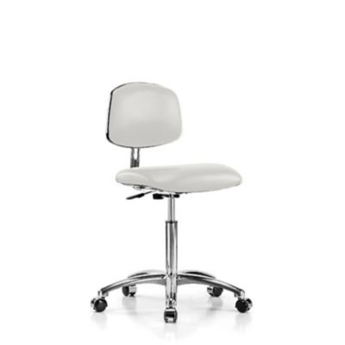 Perch Chairs & Stools Low-Back Desk Chair; Adobe White