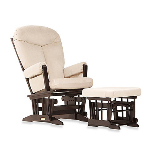 Dutailier Ultramotion Bella Classic Glider and Ottoman in Buckwheat