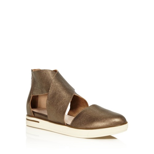 EILEEN FISHER Carver Two Piece Metallic Leather Sneaker Flats
