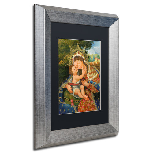 Sergio Cruze 'The Virgin and Son III' Matted Framed Art