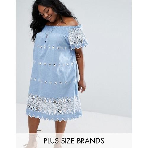 Alice & You Embroidered Bardot Dress