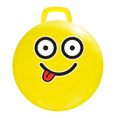 18-inch Yellow Emoji Jumping Ball #Silly - 18
