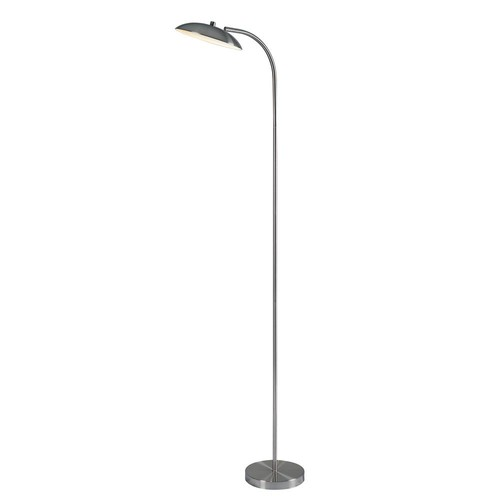 Kenroy Home Cheshire 67 in. Torchiere with steel shade