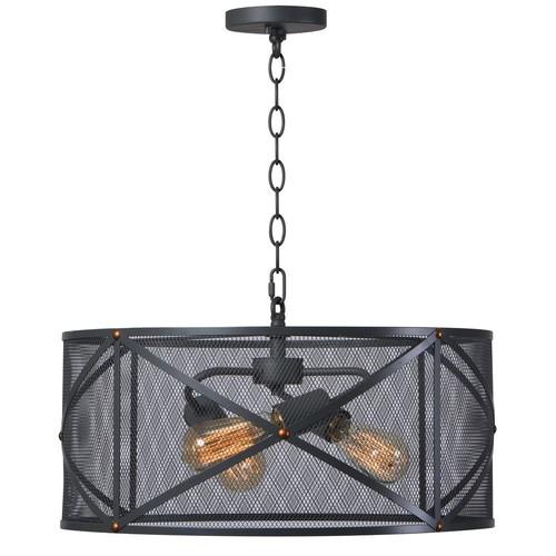 Kenroy Home Alfred 3-Light Black Pendant