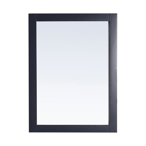Home Decorators Collection Lincoln 30 in. x 22 in. Framed Wall Mirror in Midnight Blue