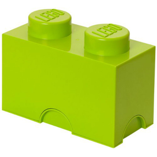 LEGO Storage Brick 2-Stud Light Yellowish Green/Lime
