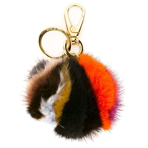 SALVATORE FERRAGAMO Fur Keyring