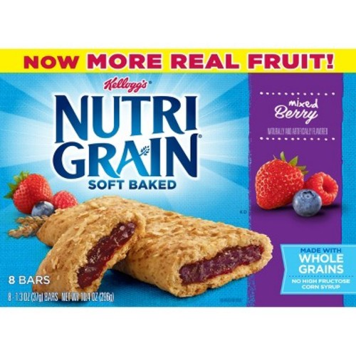 Nutri-Grain Mixed Berry Soft Baked Cereal Bars - 8ct - Kellogg's
