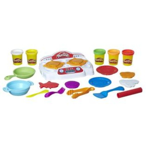 Hasbro,Play Play-Doh Kitchen Creations Sizzlin' Stovetop