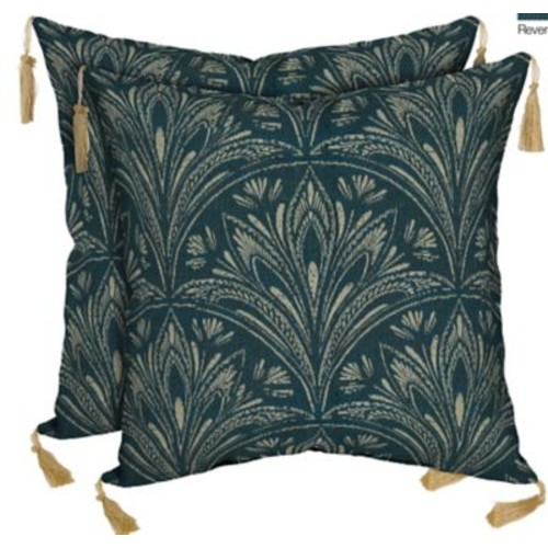 BombayOutdoors Royal Zanzibar Reversible Outdoor Throw Pillow (Set of 2)
