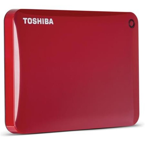 Toshiba Canvio Connect II 3TB USB 3.0 External Hard Drive, Red