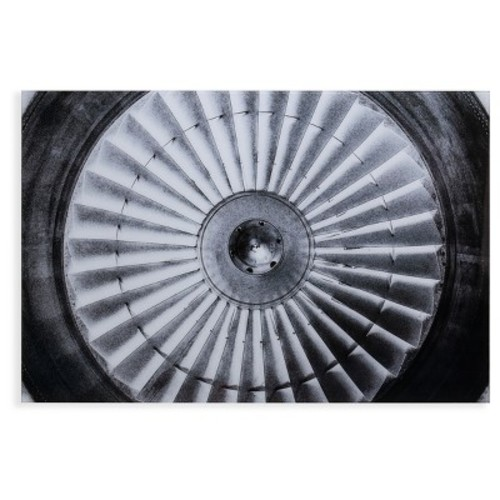 Jet Engine Glass Wall Art - Black and White - Aiden Lane