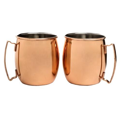 Core Bamboo Moscow Mule Mugs - 20 fl.oz., Set of 2
