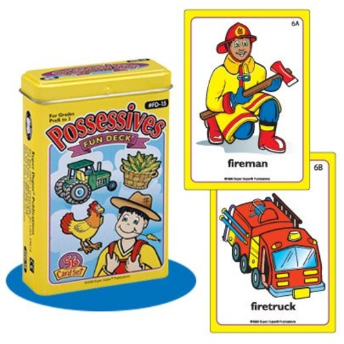 Possessives Fun Deck Cards - Super Duper Educational Learning Toy for Kids