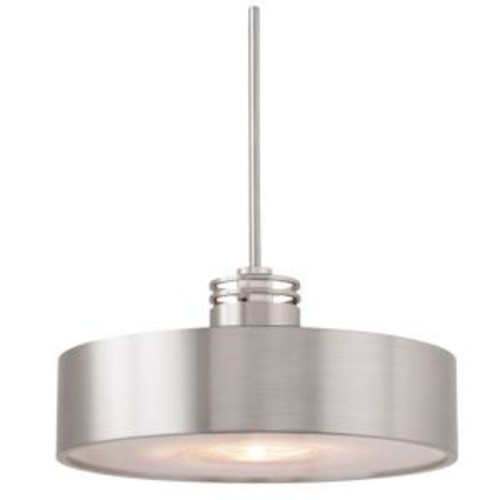 LBL Lighting Hover 1-Light Satin Nickel Hanging Mini Pendant