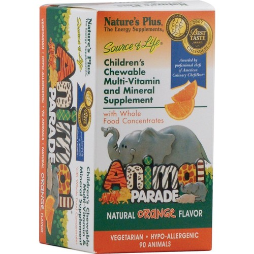 Animal Parade - Orange Nature's Plus 90 Chewable
