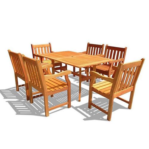 Outdoor Rectangular Curvy Dining Set