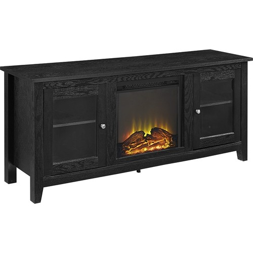 Walker Edison - TV Stand with Electric Fireplace for Most Flat-Panel TVs Up to 60