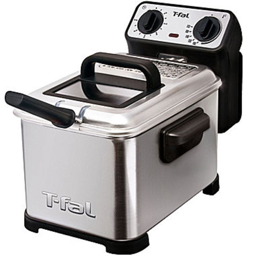 T-fal FR4049 Family Pro 3-Liter Oil Capacity Electric Deep Fryer with Stainless Steel Waffle, 2.6-Pound, Silver [3L Deep-Fryer]