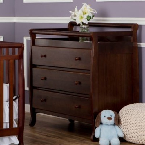 Dream On Me Liberty Collection 3 Drawer Changing Table, Espresso [Espresso]