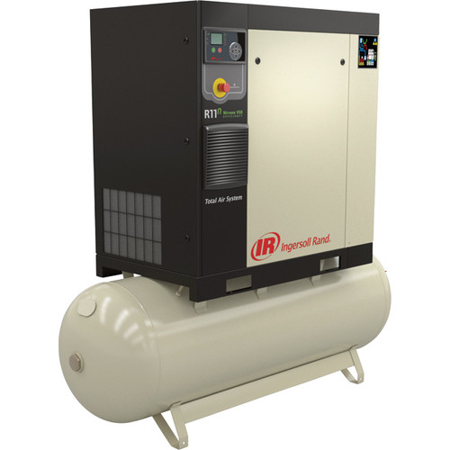 Ingersoll Rand Rotary Screw Compressor  Total Air System, 10 HP, 200 Volt/3-Phase, 36.7 CFM @ 115 PSI, 80-Gallon Tank, Model# 48670798