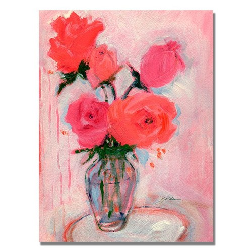 Trademark Global Sheila Golden 'Roses' Canvas Art [Overall Dimensions : 24x32]
