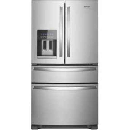 Whirlpool 25 cu. ft. 36-Inch Wide French Door Refrigerator -Fingerprint Resistant Stainless Steel