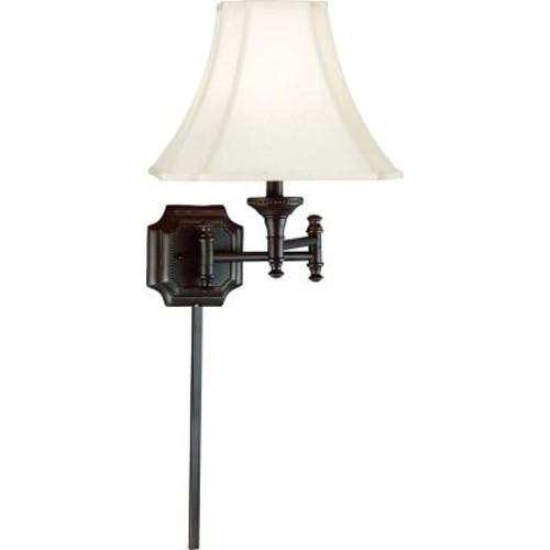 Kenroy Home 33054BBZ Wentworth Burnished Bronze Plug-In Swing Arm Lamp