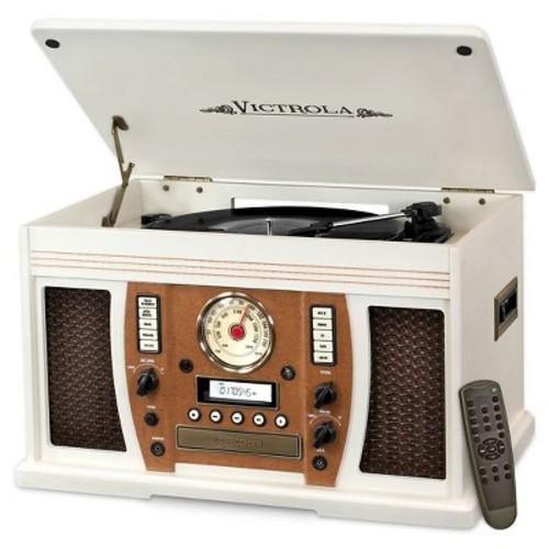Vinyl Turntable Victrola - White