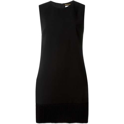SAINT LAURENT Pleated Hem Dress