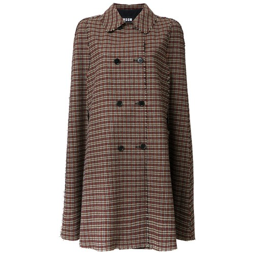 MSGM Checked Coat