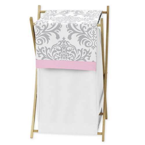 Sweet Jojo Designs Pink and Gray Elizabeth Collection Laundry Hamper