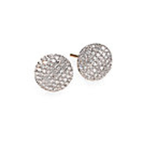 Pave Diamond & 14K Yellow Gold Infinity Stud Earrings