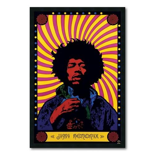 Jimi Hendrix 'Psychedelic' Gel-textured Art Print