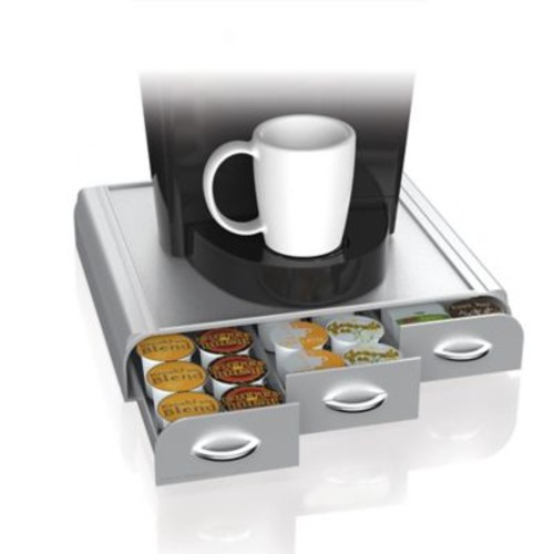 Mind Reader 36-Capacity Coffee Pod Drawer in Silver