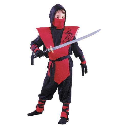 Boys Ninja Complete Red Halloween Costume