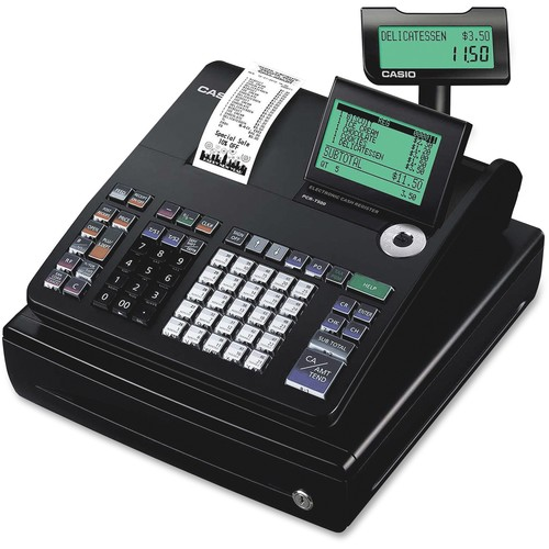 Casio One-Sheet Thermal Cash Register with 10-Line LCD Cashier Display Model PCR-T500