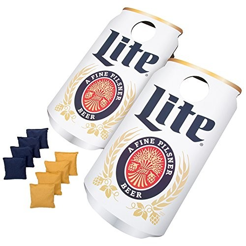 Officially Licensed Miller Lite Cornhole Bean Bag Toss Game - Includes 8 Bean Bags!